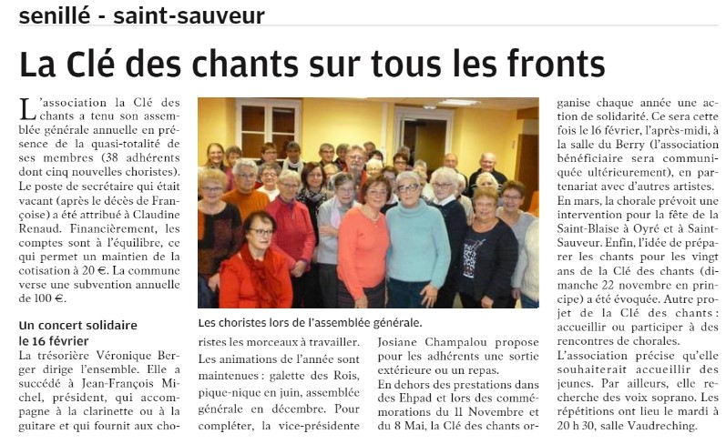 La cle de chants